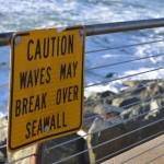 Waves May Break Over Seawall