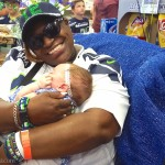 Excited SeaHawk 12s Party at Fan Fest