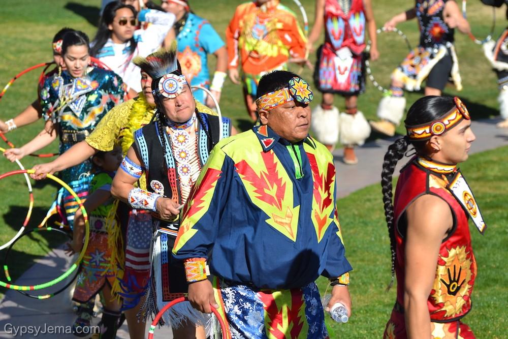 Opening procession of Native Hoop Dancing at Heard Museum, Phoenix, Arizona