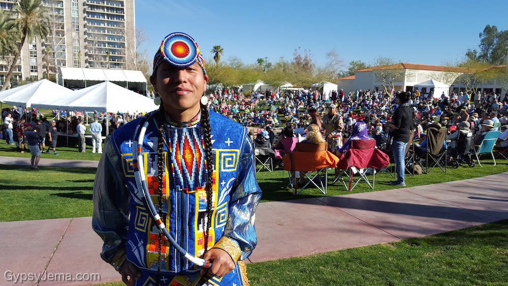 Scott Sixkiller Sinquah in the World Championship Hoop Dance Contest