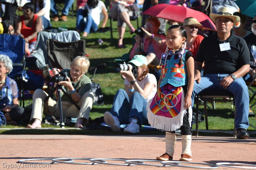 Young girl at World Championship Hoop Dance Contest