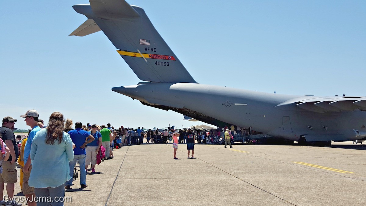 C-17 GlobeMaster III at the Barksdale AFB Air Show in Shreveport, LA