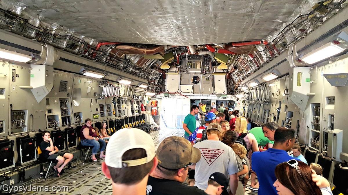 Inside the C-17 GlobeMaster III at Barksdale Air Force Base in Shreveport, LA.