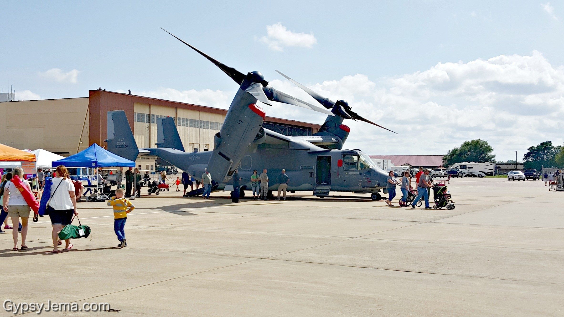 Osprey at Barksdale Air Force Base in Shreveport, Louisiana.