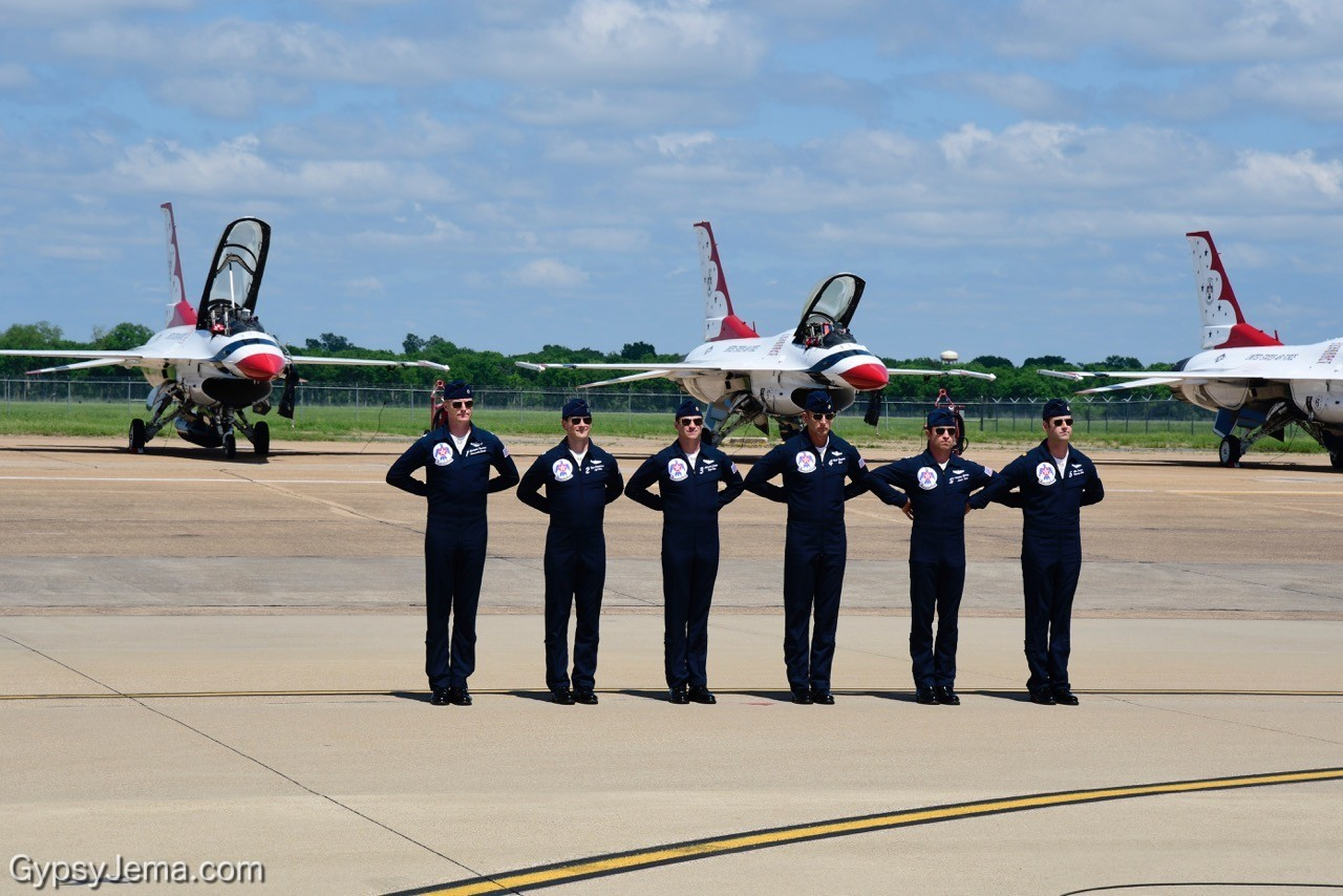 Thunderbirds pilots at Barksdale Air Show - photos by Ty Carlson.3