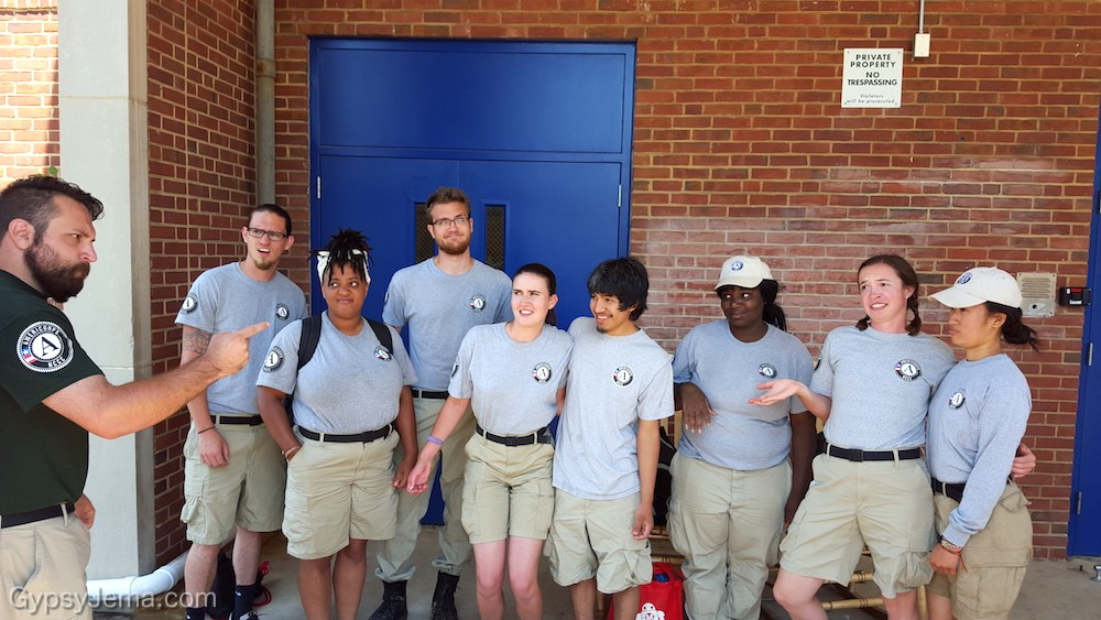 Fun with Americorp NCCC team in Baltimore
