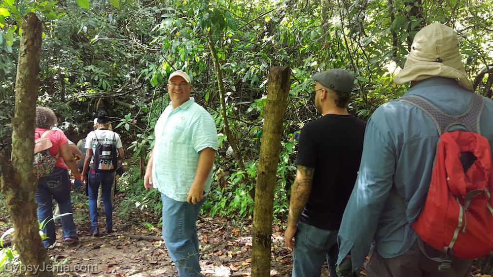 Hiking to our reforestation location with impact travelers