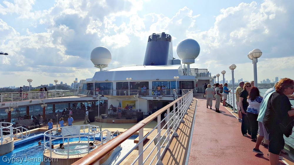 Leaving Miami cruise port on Adonia ship with Fathom cruise.