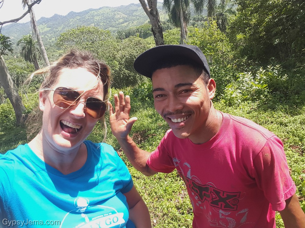 Planting trees with Dominican Republic locals for Fathom Travel