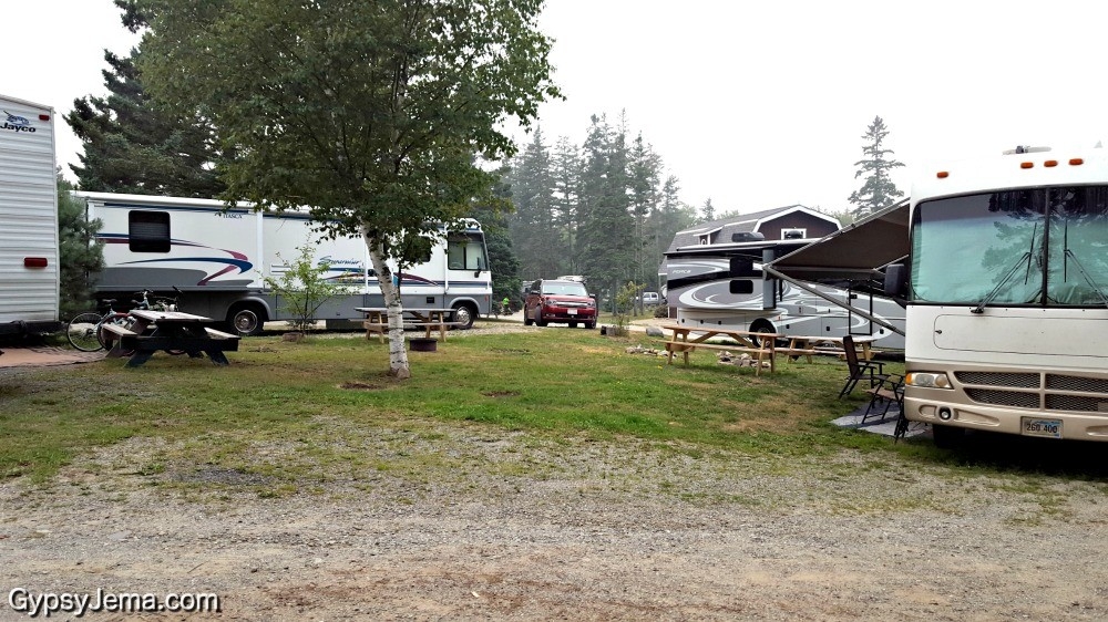 Campground with RV campsites in a circle